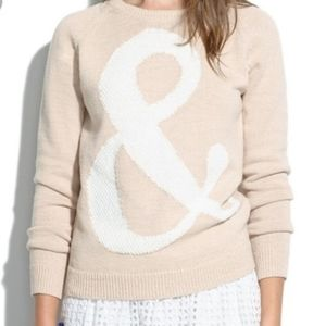 Madewell Ampersand And Symbol Sweater